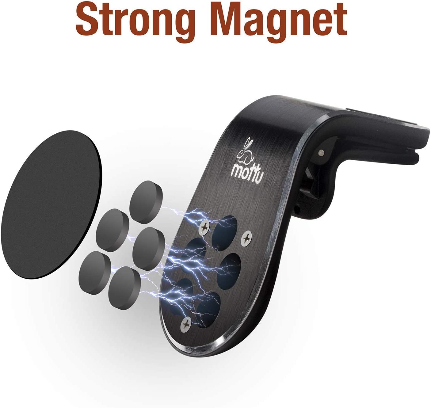 Magnetic Car Vent Phone Mount 1 Pack Anti-Slip Anti-Scratch Phone Vent Clip with Super Strong Magnets 360 Degree Rotation for Safe GPS Navigation Universal Magnetic Vent Mount Non-Sticky Dashboard