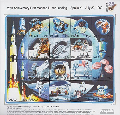 Palau-Islands 725-744 ZD-archery (complete issue) 1994 1. Manned Moon Landing (Stamps for collectors) Space