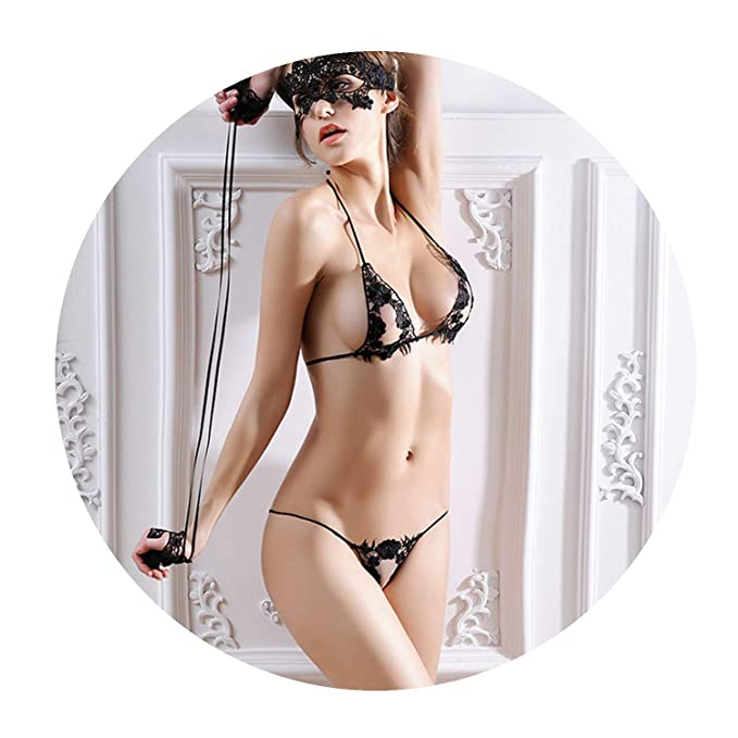 f7fc1acd01 Amazon.com  4pcs Set Women Bra Set Sexy Mask + Hand Circle + Bra ...