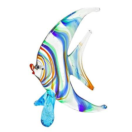 GlassOfVenice Murano Glass Striped Half-Moon-Shaped Fish