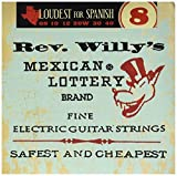 Dunlop RWN0840 Reverend Willy Nickel Plated Steel Electric Guitar Strings, Fine, .008-.040, 6 Strings/Set