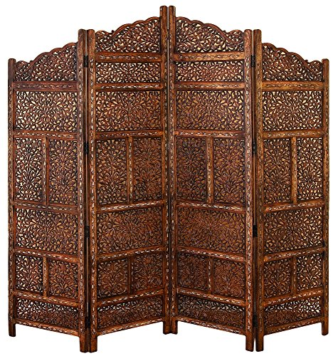 (Deco 79 Traditional Wood Multi-Panel Room Divider, 72