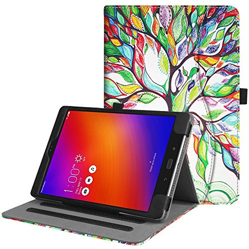 Fintie Asus ZenPad 3S 10 Z500M / ZenPad Z10 ZT500KL Case - Multi-Angle Viewing Folio Stand Cover with Pocket for ZenPad 3S 10 / Verizon Z10 9.7-inch Tablet (Love Tree) by Fintie