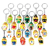 1.5'' COLLECTABLE DUCKY KEYCHAINS (20PC/UN), Case of 12