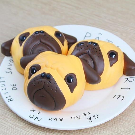 DLUcraft 4.5 Cute Dog Jumbo Slow Rising Kawaii French Bulldog Bun Bread Decor Decompression Yellow/&Black