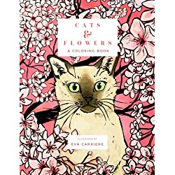 Cats & Flowers: A Coloring Book