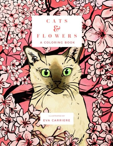 (Cats & Flowers: A Coloring Book)