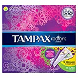 Tampax Radiant Plastic Duopack (RegularSuper) Absorbency Tampons 32 Count
