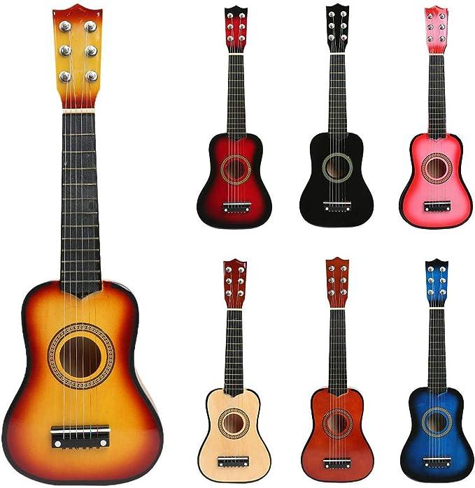 Guitarra Niños,21 Pulgadas 6 Cuerdas Mini Guitarra de Madera ...