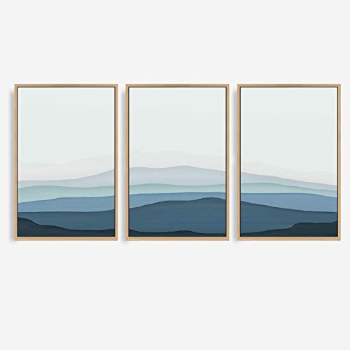 signwin 3 Piece Framed Canvas Wall Art Colorful Misty Canvas Prints Home Artwork Decoration
