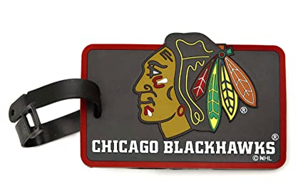cf3116d241c Amazon.com   aminco NHL Chicago Blackhawks Soft Bag Tag   Sports Fan ...