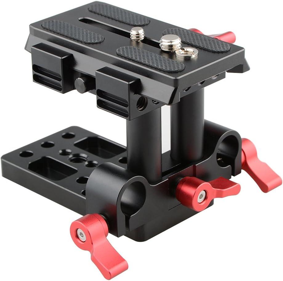 CAMVATE Soporte Base QR Plato de liberación rápida para Manfrotto 501/504/ 577/701 estándar Accesorio (Rojo)