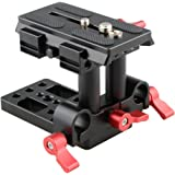CAMVATE Quick Release Mount Base QR Plate for Manfrotto 501/ 504/ 577/701 Tripod Standard Accessory(Red)