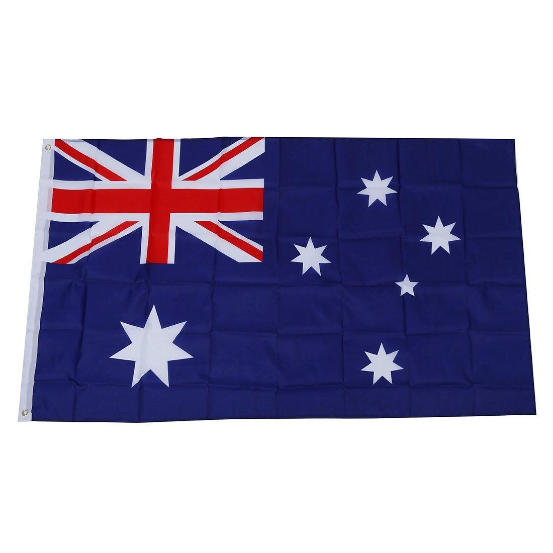 TOOGOO (R) Grande 90x150cm 5 X 3FT tifosi Olimpiadi National Sports bandiere con passacavo - bandiera australiana