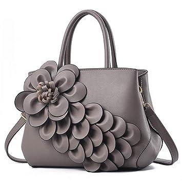 f85b9e156 GMYANDJB Famosa Marca de diseño de Lujo 3D Flor Bolsos de Las Mujeres 2018  Bolso de Hombro de Cuero del Partido de Las señoras Sac a Principal:  Amazon.es: ...