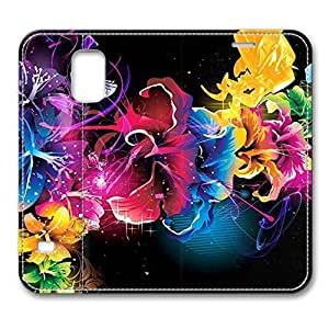 Brain114 Fashion Style Case Design Flip Folio PU Leather Cover Standup Cover Case with Colorful Flowers 8 Pattern Skin for Samsung Galaxy S5 I9600