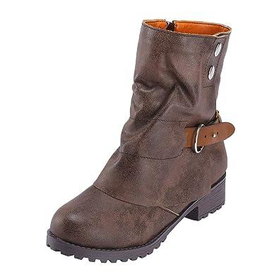 new products b1e72 4300a Winterstiefel Damen,Mosstars Stiefel Mode warme Kurze Leder ...