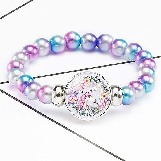 Yuguijia - Pulsera de Unicornio arcoíris de Moda, Bolsa de ...