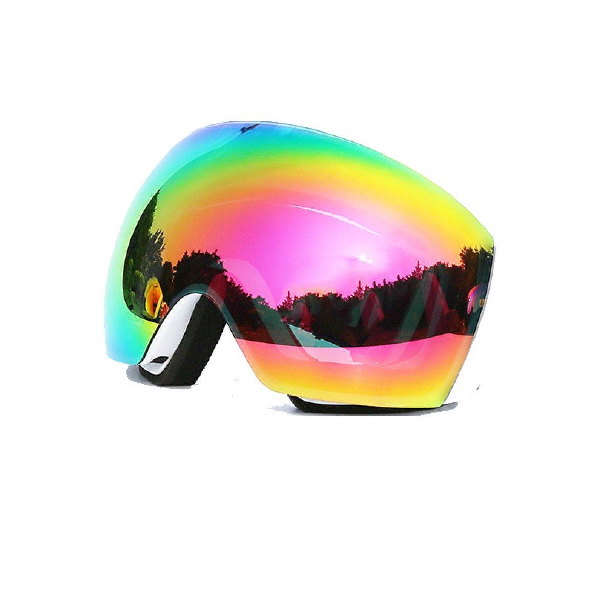TZQ Miroir De Ski Hommes Et Femmes Lunettes D'escalade Double Anti-buée À L'épreuve Du Vent,A-OneSize