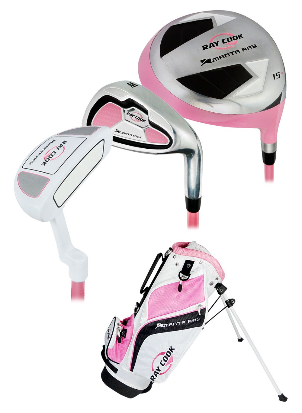 Ray 2017 Cook Girls Ages 3-5 Junior Golf Set, Right Hand
