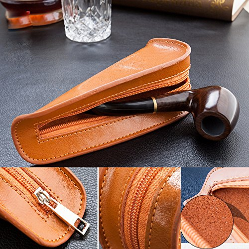 Portable Single Holder Pouch Bag Tobacco Pipe Case for Smoking Pipe by firedog