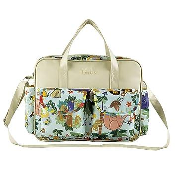 Multifunctional Waterproof Mummy Handbag Baby Diaper Nappy Bag Nursery  Changing Bag (Animals Pattern) 92c3b47540c96