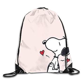 WSXEDC Snoopy Love - Mochila con cordón para Yoga, Deporte, Viajes: Amazon.es: Hogar
