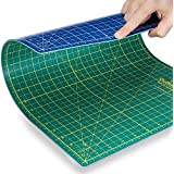 """Quilting Bee 24""""x36"""" 2-in-1 (Green/Blue) Self-Healing Cutting Mat for quilting, crafts and scrapbooking. Use with rotary cutters, x-acto knives and cutting blades. (CM2436)"""