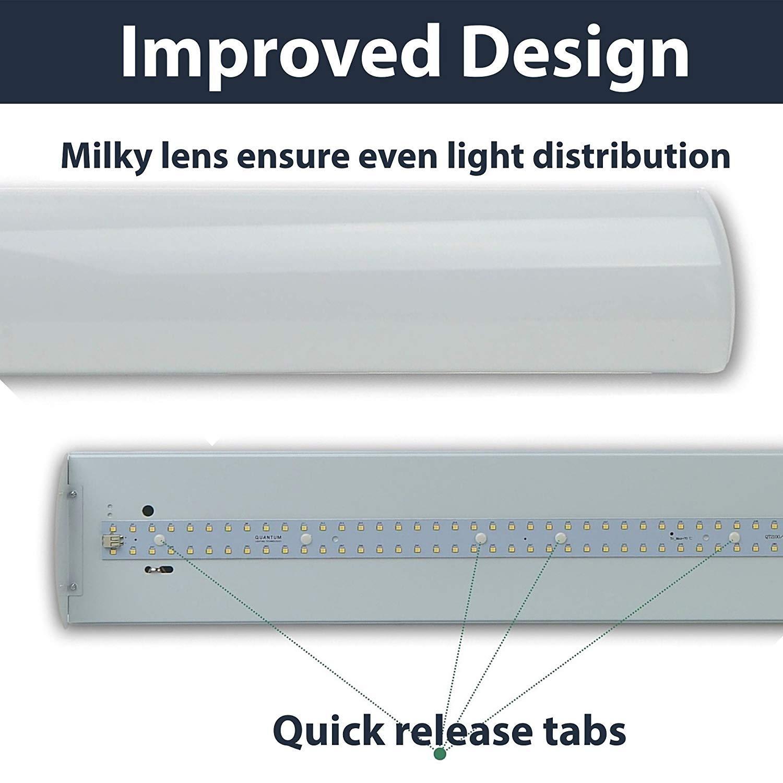 LED 40 Watt 4\' Linear Wrap - Strip Fixture 5000K (Daylight), Garage ...