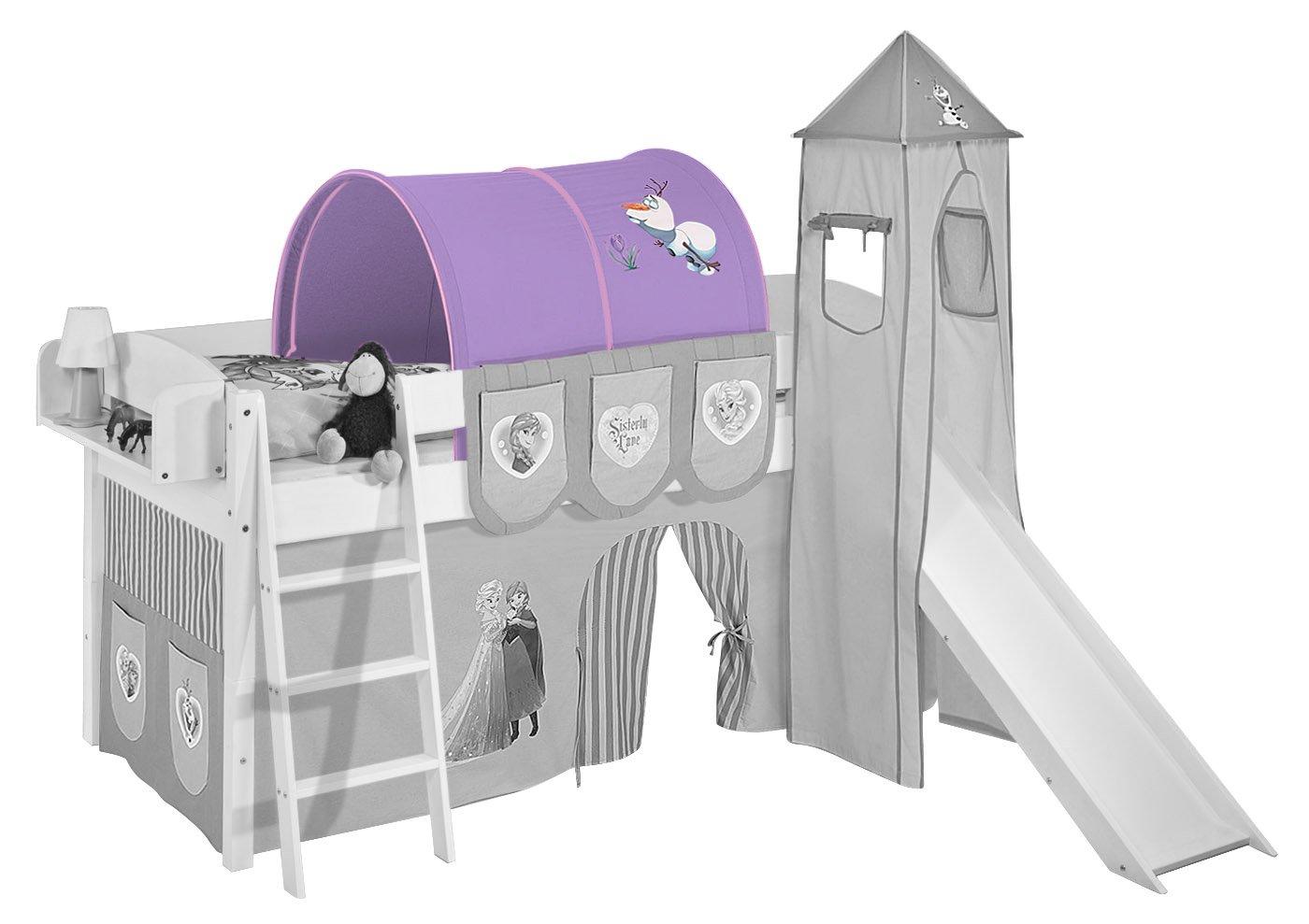 Tunnel Eiskönigin Lila - für Hochbett, Spielbett und Etagenbett
