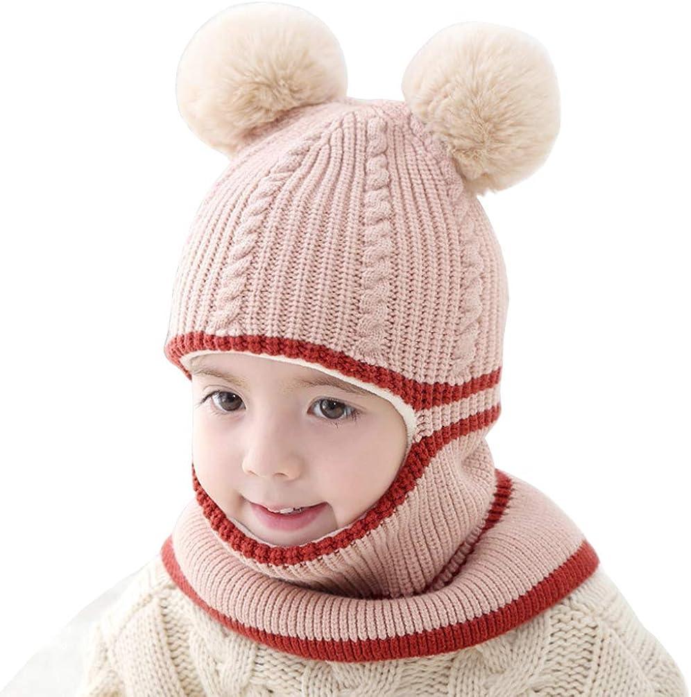 Gorro de Invierno para beb/é Forro Polar con Capucha de Punto ni/ña Ugitopi ni/ño