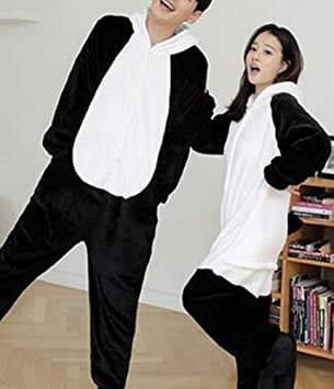 Unisex Adult Pajamas - Plush One Piece Cosplay Animal Costume Winter,Panda,XL