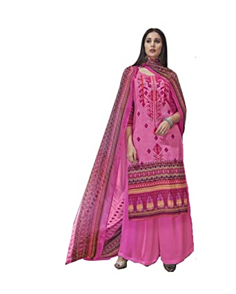 0201651030 DS collection Pakistani Jam Silk Cotton Women's Cotton Salwar Suit Material Salwar  Suit Material [Baby Pink/Free Size]: Amazon.in: Clothing & Accessories