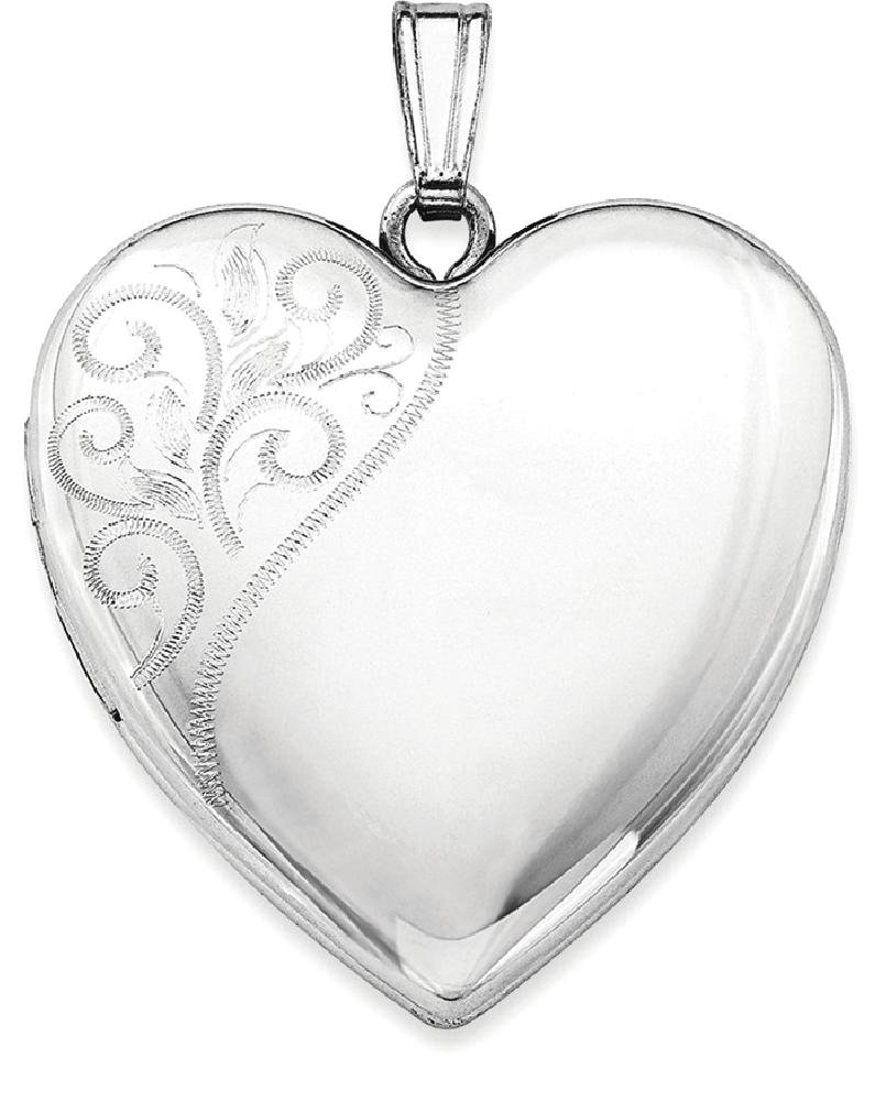 ICE CARATS 925 Sterling Silver 24mm Swirl Heart Photo Pendant Charm Locket Chain Necklace That Holds Pictures Fine Jewelry Ideal Gifts For Women Gift Set From Heart by ICE CARATS (Image #2)
