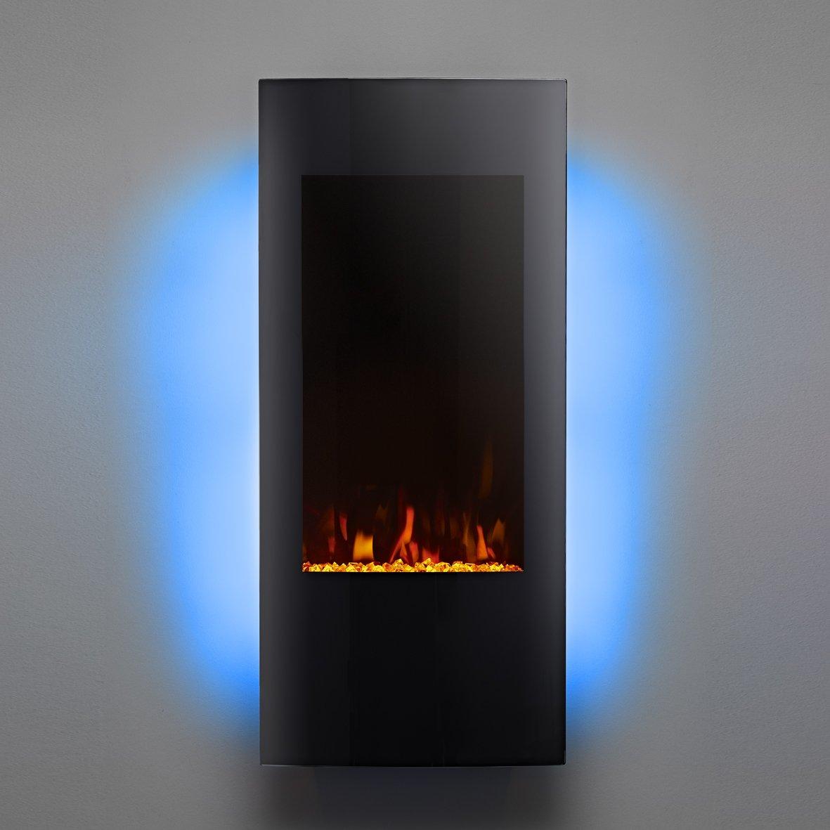 Focal Point Fires FPFAZ00905 Edinburgh Grand LED Wall Mounted Electric Fire Black
