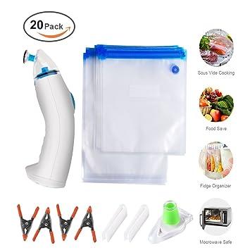 Nelipo reutilizable vacío sellado bolsas - 20 sin BPA ...