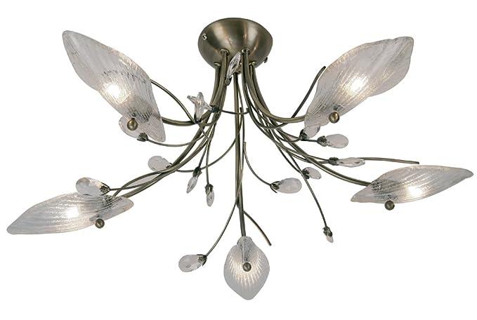 Plafoniere Ottone E Vetro : 5 bruciatore plafoniera cipro con ottone anticato per soffitti