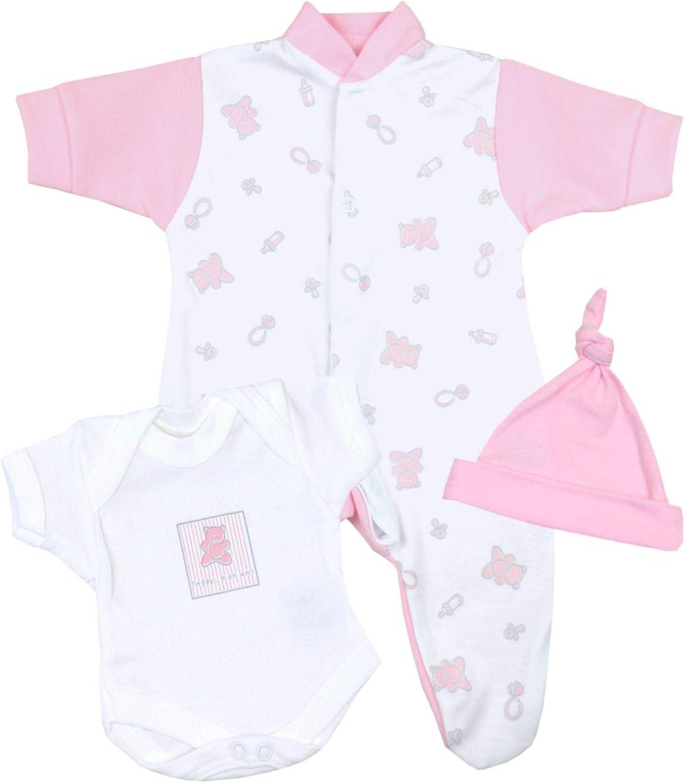 Girls Premature Three Piece Sleepsuit Set