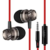 PTron HBE6 in-Ear Wired Headset with Mic (Red/Black)