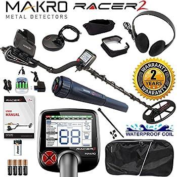 Makro Racer 2 Metal Detector Pro Package 2 Waterproof Coils, Extras & Pinpointer