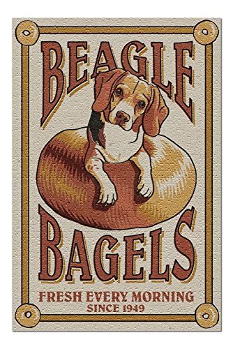 Beagle Bagels - Retro Ad (20x30 Premium 1000 Piece Jigsaw Puzzle, Made in USA!)