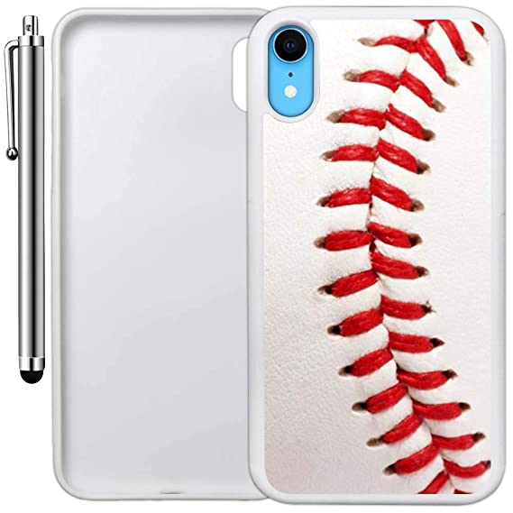 low priced ce9ae 98edd Amazon.com: Custom Case Compatible with iPhone XR (Baseball Design ...