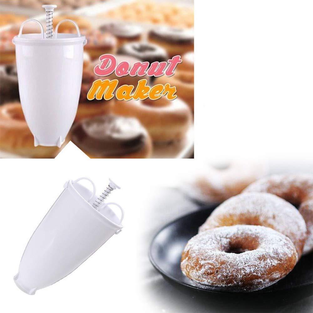 Homefami Plastic Doughnut Donut Maker Machine Mold DIY Tool Kitchen Pastry Making Bake Ware Stainless Steel White by Homefami