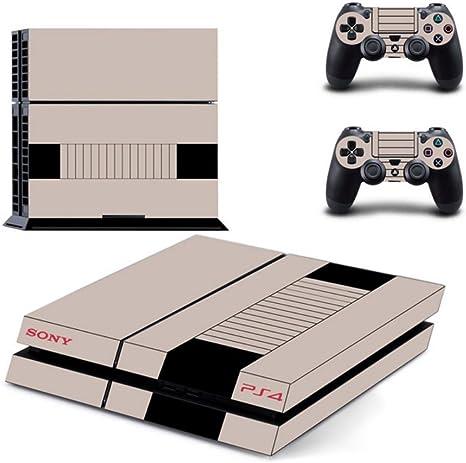 Sony PS4 Playstation 4 Skin Design Foils Pegatina Set - Retro NES Motivo: Amazon.es: Videojuegos