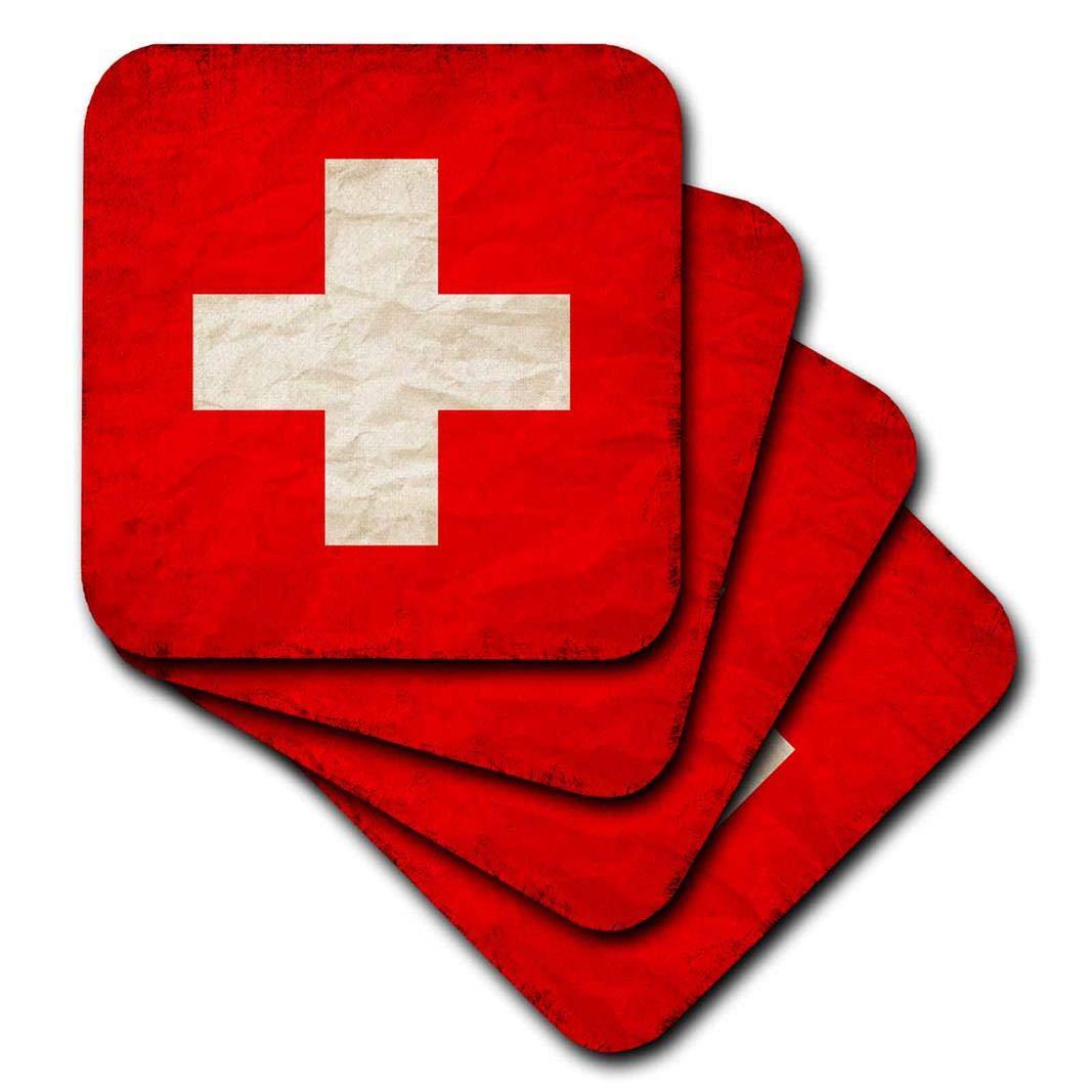 3drose Sven Herkenrathフラグ – スイスフラグ古いトレンディ作業 – コースター set-of-4-Soft cst_255829_1 set-of-4-Soft  B071JWQF1B