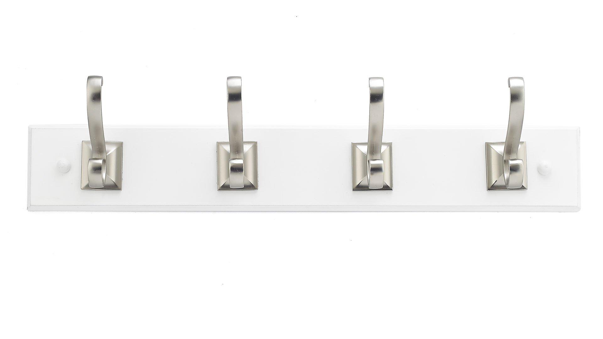 Richelieu Hardware T050210195 Transitional Hook Rack, White/Brushed Nickel Finish by Richelieu Hardware (Image #2)