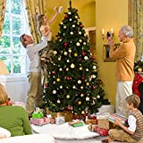 AMAUK Christmas Tree Skirt, 36 Inches White Faux
