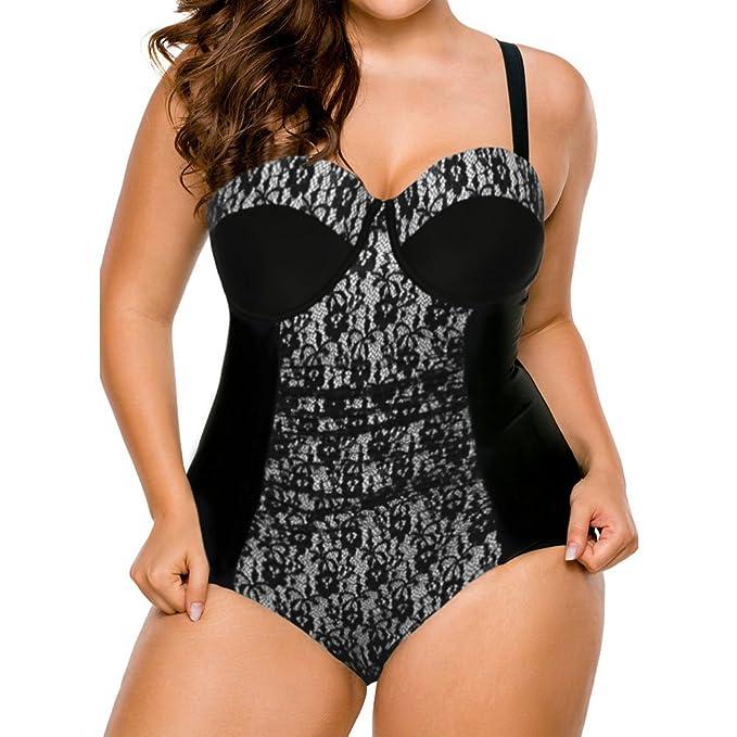 f136fe44e8c4e Eiffel Women s Plus Size Color Block Ruched One Piece Swimsuit Bathing  Suits Swimwear (XXX-