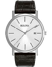 Bulova 96B104 Reloj de vestir con esfera plateada, para hombre