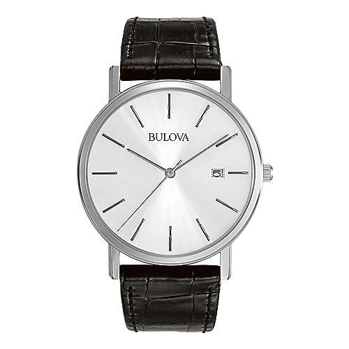 Bulova Mens 96B104 Stainless Steel Dress Watch